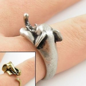 Jewelry - 🆕🎁 Antiqued Silver Elephant Ring